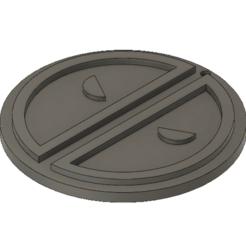 jax 1.0 v1.png Download STL file Marvel Deadpool symbol keychain • 3D print design, cpreston924