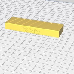 Download free 3D printer designs PS Vita Cardholder, timetravelerfrom2424