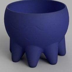 Download 3D printing designs Succulent pot . Funny Plant Pot, omarsensei