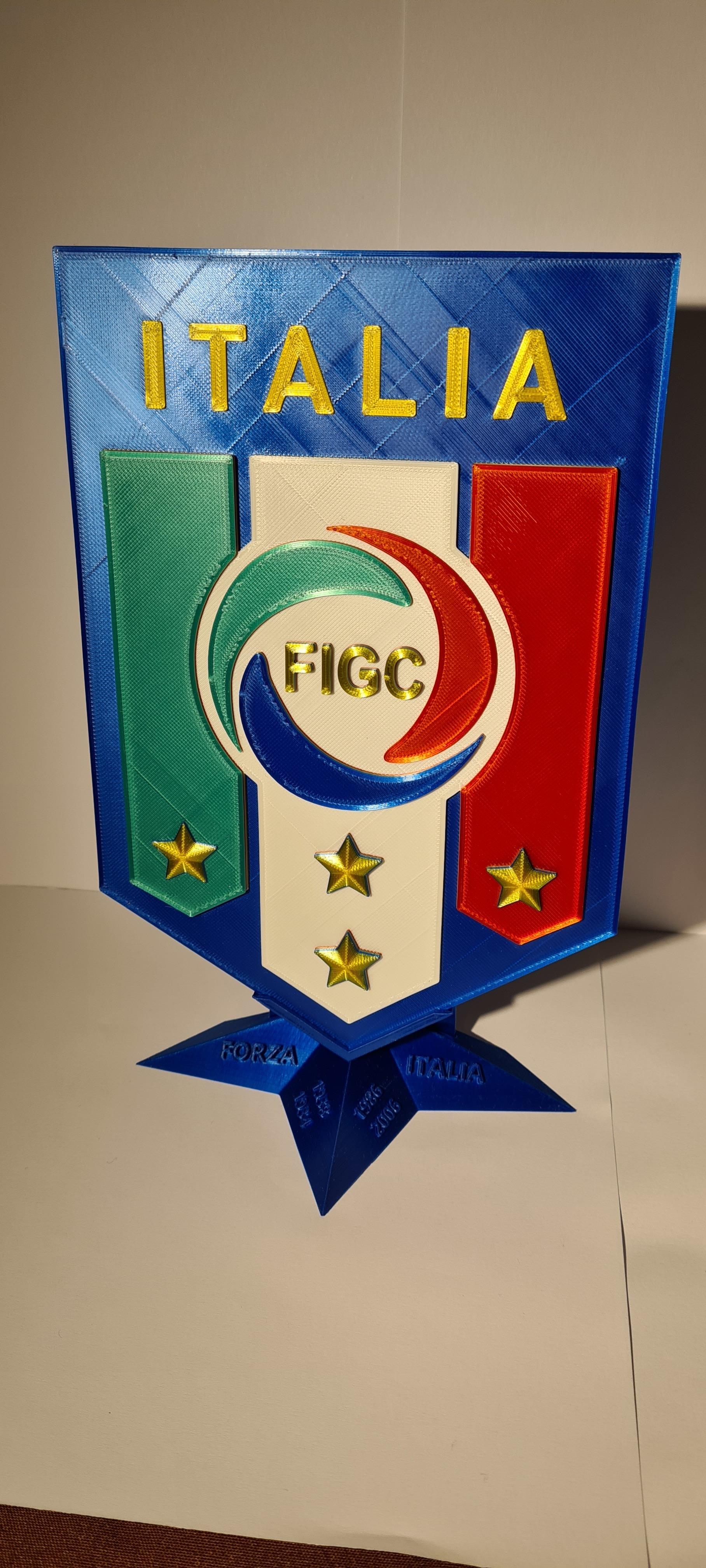 20201017_162002.jpg Télécharger fichier STL Logo italia figc • Objet imprimable en 3D, zimatera
