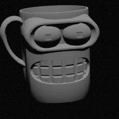 TAZA FIN.png Télécharger fichier STL bender cup, bender breakfast cup • Objet à imprimer en 3D, ulisesbece