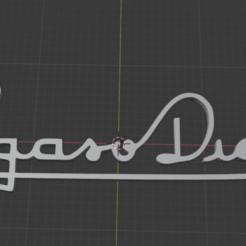 logo pegaso d.png Télécharger fichier STL diesel pegasus • Objet imprimable en 3D, ulisesbece