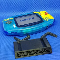 GBA.jpg Download STL file Game Boy Advance stand • 3D print model, azraele100877