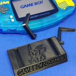 GBA Pik.jpg Download STL file Game Boy Advance PIKACHU version stand • 3D print object, azraele100877