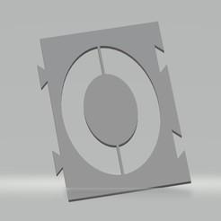 """O.jpg Télécharger fichier STL Pochoir lettre """"O"""" pour peinture aérosol, pinceau, aérographe. • Design pour imprimante 3D, cedricpct1"""
