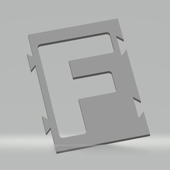 "F.jpg Download STL file Stencil letter ""F"" for spray paint, brush, airbrush. • 3D printing template, cedricpct1"