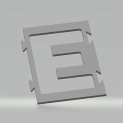 "E.jpg Download STL file Stencil letter ""E"" for spray paint, brush, airbrush. • 3D printer template, cedricpct1"