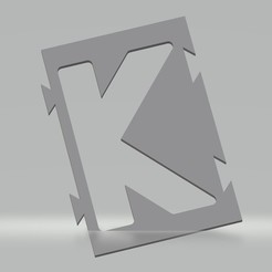 "K.jpg Download STL file Stencil letter ""K"" for spray paint, brush, airbrush. • 3D printing object, cedricpct1"