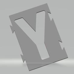 """Y.jpg Télécharger fichier STL Pochoir lettre """"Y"""" pour peinture aérosol, pinceau, aérographe. • Objet à imprimer en 3D, cedricpct1"""