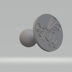 Tampon abeille.jpg Télécharger fichier STL Tampon abeille • Objet pour imprimante 3D, cedricpct1