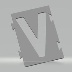 """V.jpg Télécharger fichier STL Pochoir lettre """"V"""" pour peinture aérosol, pinceau, aérographe. • Objet pour impression 3D, cedricpct1"""