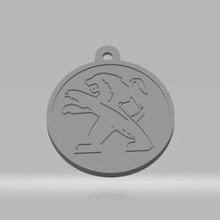 Porte clés Peugeot.jpg Télécharger fichier STL Porte clés Peugeot • Modèle pour imprimante 3D, cedricpct1