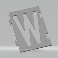 """W.jpg Télécharger fichier STL Pochoir lettre """"W"""" pour peinture aérosol, pinceau, aérographe. • Objet pour imprimante 3D, cedricpct1"""