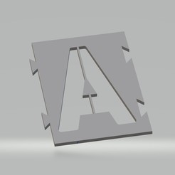 "A.jpg Download STL file Stencil letter ""A"" for aerosol paint, brush, airbrush • Object to 3D print, cedricpct1"