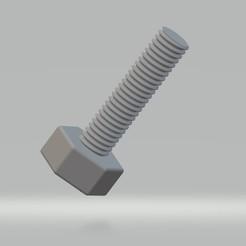 Boulon M5x0.8.jpg Télécharger fichier STL Boulon M5x0.8 • Objet à imprimer en 3D, cedricpct1