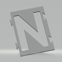 "N.jpg Download STL file Stencil letter ""N"" for spray paint, brush, airbrush. • 3D print model, cedricpct1"