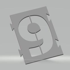 """9.jpg Télécharger fichier STL Pochoir chiffre """"9"""" pour peinture aérosol, pinceau, aérographe. • Design imprimable en 3D, cedricpct1"""