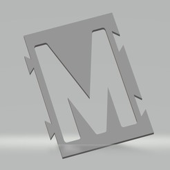 "M.jpg Download STL file Stencil letter ""M"" for spray paint, brush, airbrush. • Object to 3D print, cedricpct1"
