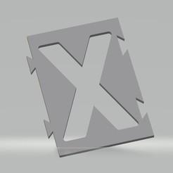 """X.jpg Télécharger fichier STL Pochoir lettre """"X"""" pour peinture aérosol, pinceau, aérographe. • Objet imprimable en 3D, cedricpct1"""