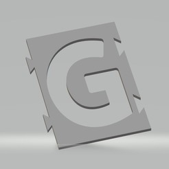 "G.jpg Download STL file Stencil letter ""G"" for spray paint, brush, airbrush. • 3D printable template, cedricpct1"