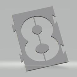 """8.jpg Télécharger fichier STL Pochoir chiffre """"8"""" pour peinture aérosol, pinceau, aérographe. • Design pour imprimante 3D, cedricpct1"""