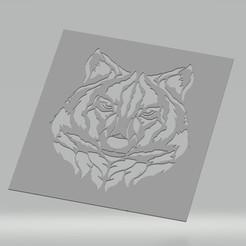 Pochoir Loup.jpg Télécharger fichier STL Pochoir Loup • Design pour impression 3D, cedricpct1