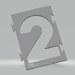 "2.jpg Download STL file Stencil number ""2"" for aerosol paint, brush, airbrush. • 3D printable model, cedricpct1"