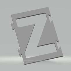"""Z.jpg Télécharger fichier STL Pochoir lettre """"Z"""" pour peinture aérosol, pinceau, aérographe • Modèle imprimable en 3D, cedricpct1"""