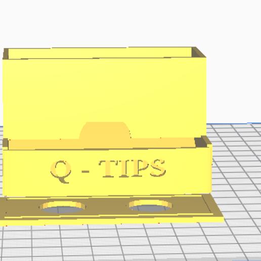 Télécharger fichier imprimante 3D Boîte à Q-Tip, bmayo59
