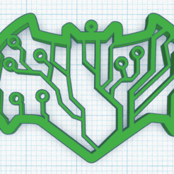 Download STL file BATMAN LOGO KEY RING CIRCUIT • 3D printer object, sublimacolorcancun