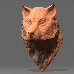 720X720-wold-5.jpg Download free STL file Wolf Bust STL • Design to 3D print, aspan72