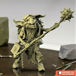 GoblinDecember2020_PATREON.jpg Download STL file Goblin 77mm • 3D printable model, aspan72