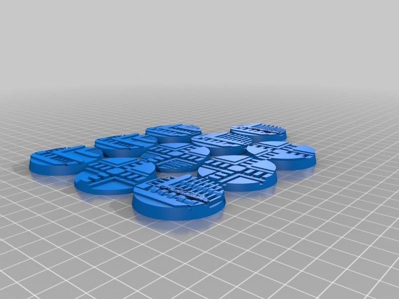 d182569d7c8d93cd940f4efcd4d12280.png Télécharger fichier STL gratuit Necromunda / Warhammer 40k Bases 40mm • Plan imprimable en 3D, jw7007