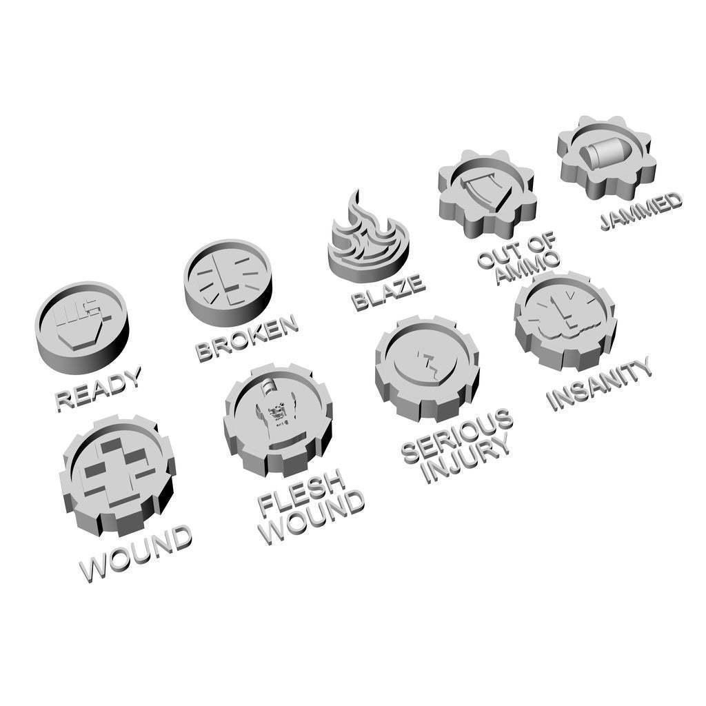 Token_1.jpg Download free STL file Necromunda Status Markers • Design to 3D print, jw7007