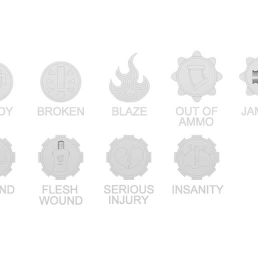 Download free STL file Necromunda Status Markers • Design to 3D print, jw7007
