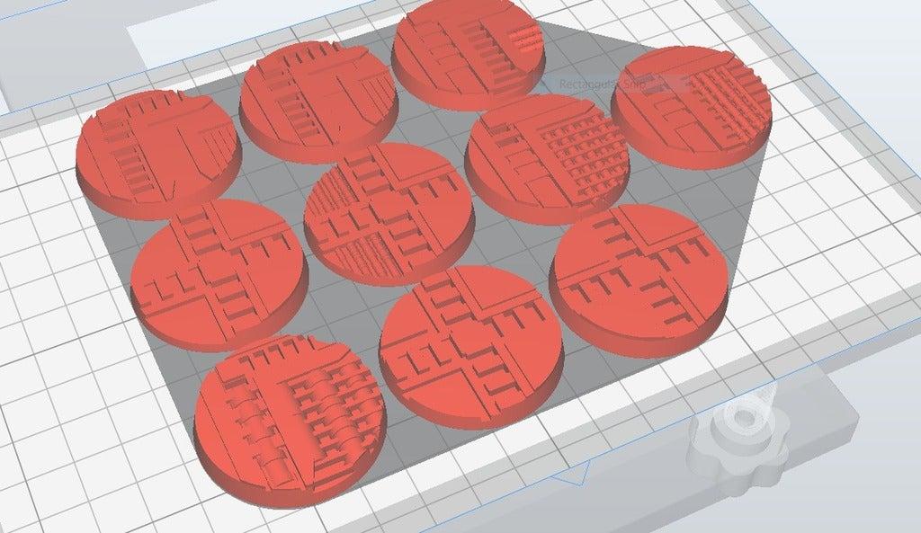 necromunda_40mm_x10.PNG Télécharger fichier STL gratuit Necromunda / Warhammer 40k Bases 40mm • Plan imprimable en 3D, jw7007