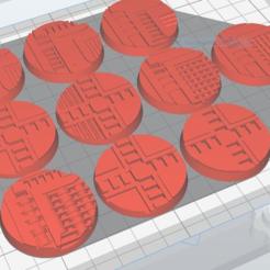 Télécharger fichier STL gratuit Necromunda / Warhammer 40k Bases 40mm • Plan imprimable en 3D, jw7007