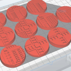 necromunda_40mm_x10.PNG Download free STL file Necromunda / Warhammer 40k Bases 40mm • Template to 3D print, jw7007