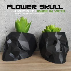Download free 3D printing files SkullFlower, madeinvicto