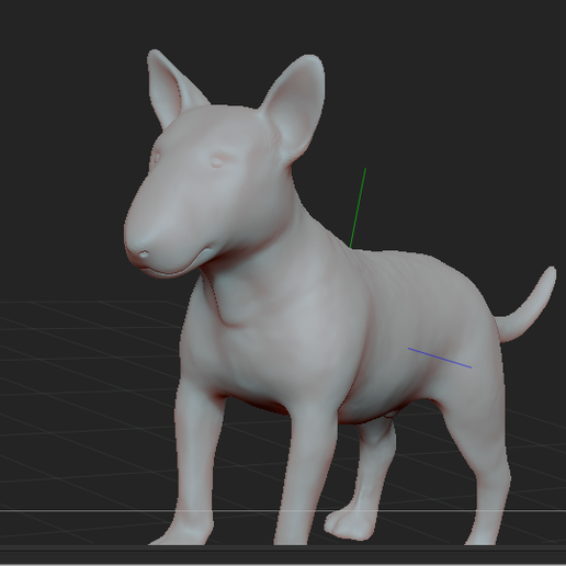 2.PNG Download STL file BULL TERRIER DOG V2 • Template to 3D print, nicoco3D