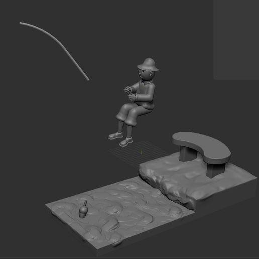 v6.JPG Download STL file fisherman • 3D printing object, NICOCO3D
