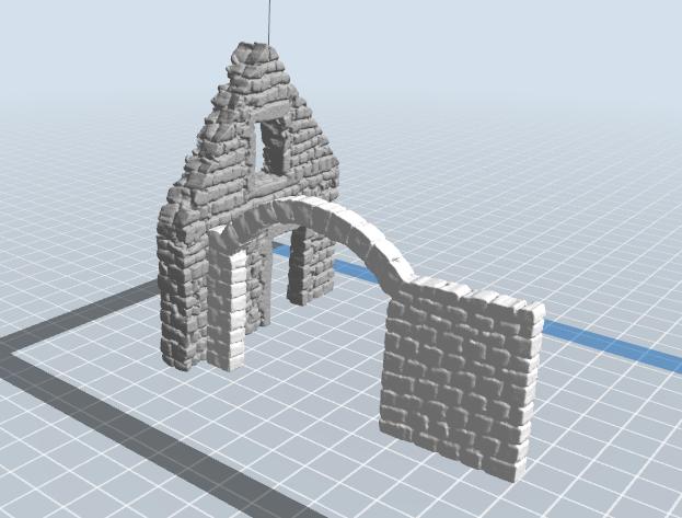 2.PNG Télécharger fichier STL gratuit Maison ruine • Plan imprimable en 3D, nicoco3D