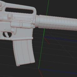 1.JPG Download free STL file Assault rifle M16A2 • 3D printing model, NICOCO3D