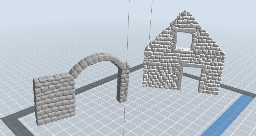 4.PNG Télécharger fichier STL gratuit Maison ruine • Plan imprimable en 3D, nicoco3D