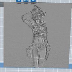 Télécharger fichier imprimante 3D gratuit cindy aurum cadre en 3D relief , nicoco3D