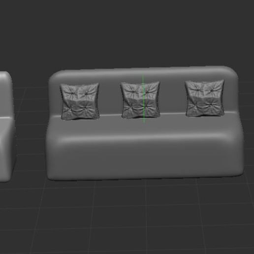3.JPG Download free STL file armchair and couch • 3D print model, nicoco3D