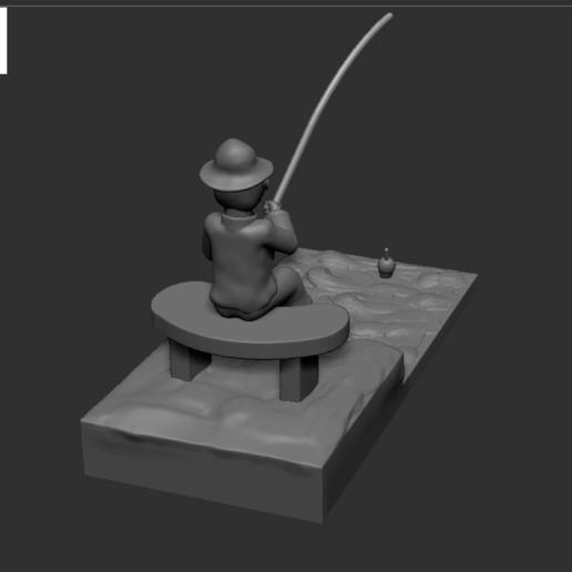 v3.JPG Download STL file fisherman • 3D printing object, NICOCO3D