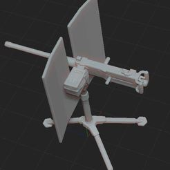 Download free 3D printer designs machine gun, nicoco3D