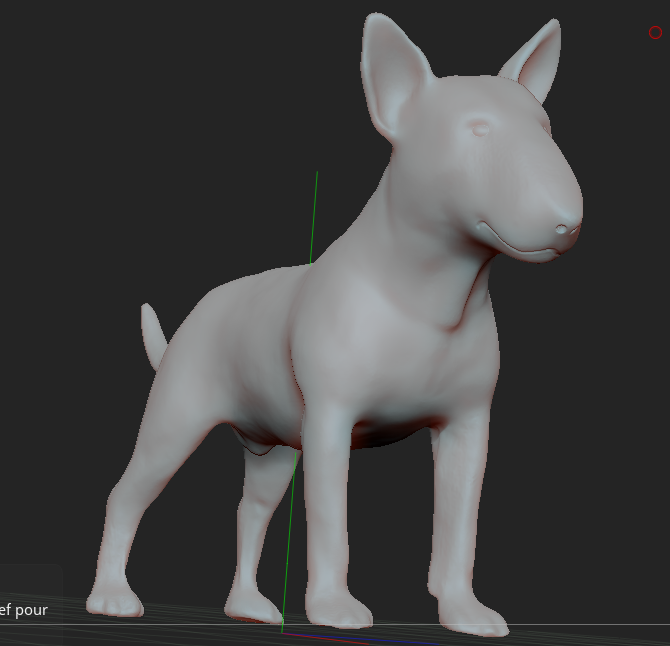 5.PNG Download STL file BULL TERRIER DOG V2 • Template to 3D print, nicoco3D