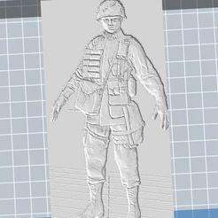 Télécharger plan imprimante 3D gatuit 82st Airborne WW2 Soldier relief  , nicoco3D